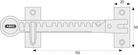 ABUS FFS100 Fensterfeststeller Maße