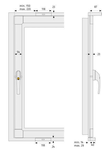 Fensterkippsicherung FKS208 Maße