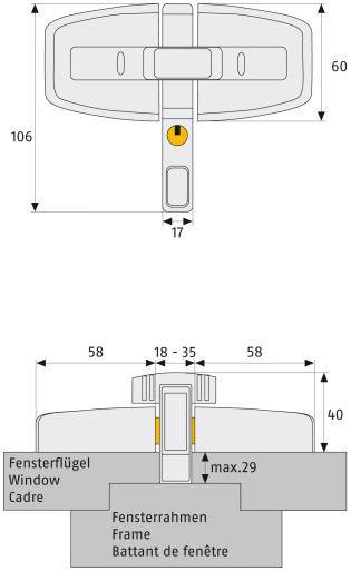 ABUS DFS95 Maße