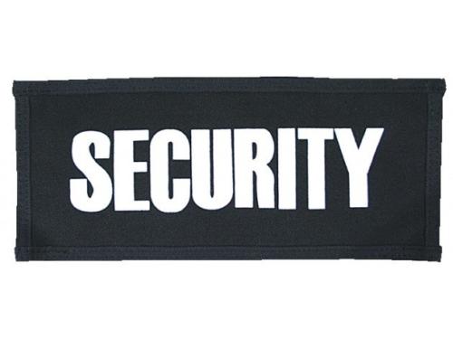 Securitysticker mit Klett groß