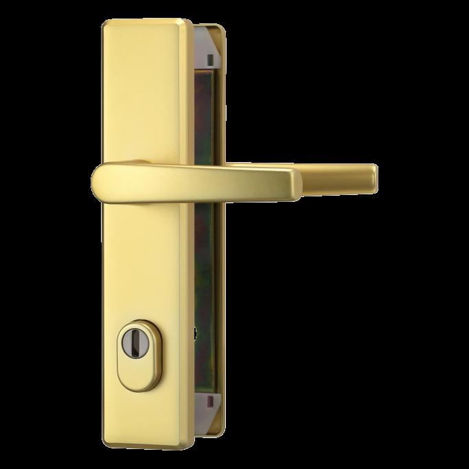 abus hlzs814 schutzbeschlag haust r eckig sicherheitstechnik. Black Bedroom Furniture Sets. Home Design Ideas