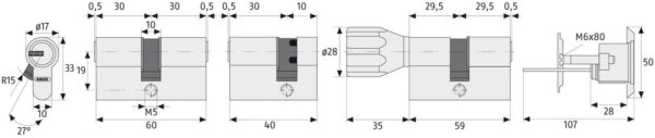 ABUS ec550 Maße