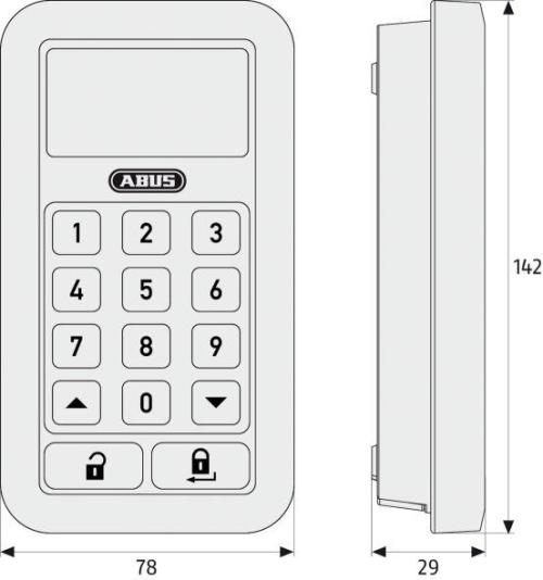 HomeTec Pro Funk-Tastatur Maße