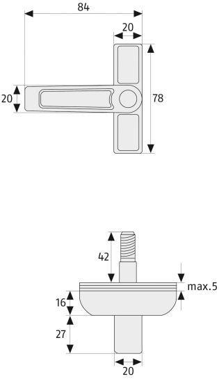 ABUS 2510 Fenstersicherung Maße