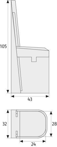 ABUS BS84 Hebetürsicherung maße