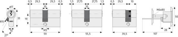 ABUS C83 Profilzylinder Maße