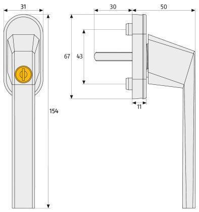 ABUSB-FG110-Abschließbarer-Fenstergriff-Maße