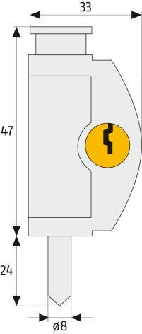 ABUS FTR42 Fenster- und Türriegel Maße