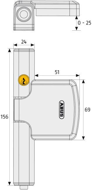ABUS FTS206 Fenstersicherung Maße