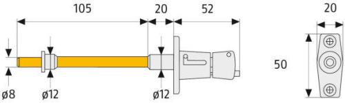 ABUS RS87 Rolladensicherung Maße