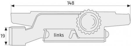 ABUS RS97 Rolladensicherung Maße