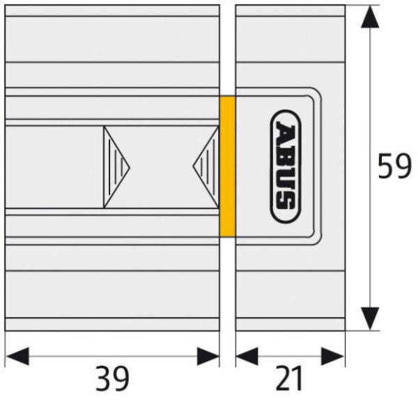 ABUS SR30 Universal-Zusatzschloss Maße