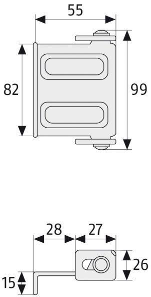 ABUS SW2 Fenster-Türsicherung Maße