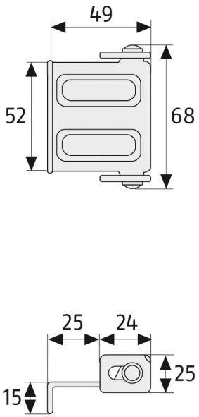 ABUS SW1 Fenster- Türsicherung Maße