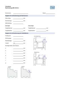 Winkhaus Checkliste Nachrüstung DIN 18104-2