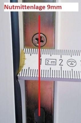 Nutmittenlage 9mm Aufmaß Pilzkopfverriegelung nachrüsten