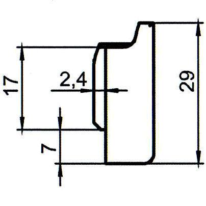 Sicherheitsschließblech SBS.K.126 PVC Winkhaus