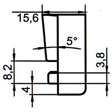 Sicherheitsschließblech SBS.K.144 PVC Winkhaus