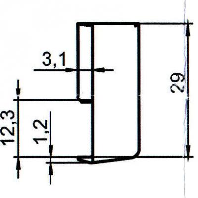 Sicherheitsschließblech SBS.K.15 PVC Winkhaus