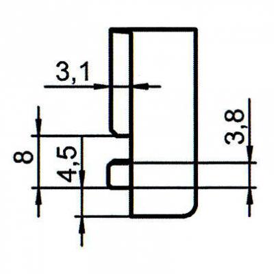 Sicherheitsschließblech SBS.K.152 PVC Winkhaus