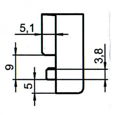 Sicherheitsschließblech SBS.K.161 PVC Winkhaus