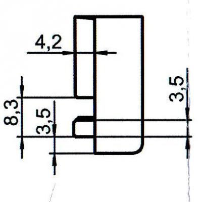 Sicherheitsschließblech SBS.K.162 PVC Winkhaus