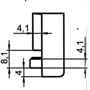 Sicherheitsschließblech SBS.K.169 PVC Winkhaus