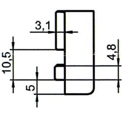 Sicherheitsschließblech SBS.K.226 PVC Winkhaus