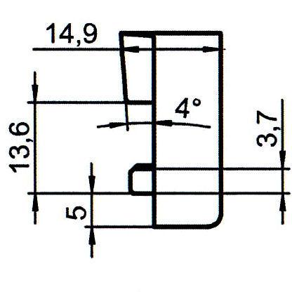 Sicherheitsschließblech SBS.K.28 PVC Winkhaus