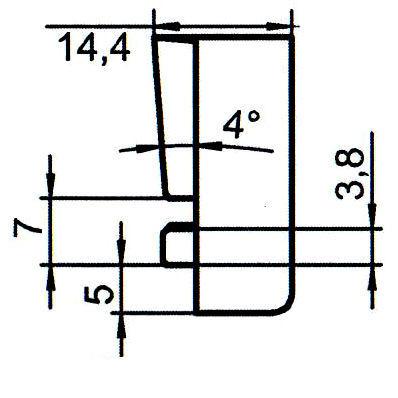 Sicherheitsschließblech SBS.K.60 PVC Winkhaus