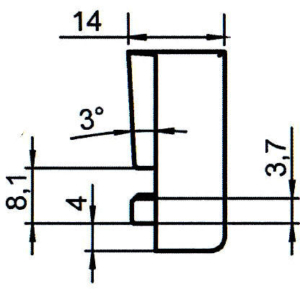 Sicherheitsschließblech SBS.K.76.M3 PVC Winkhaus