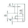 Sicherheitsschließblech SBS.K.105 PVC Profile Nutmittenlage 9 mm
