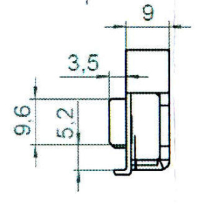 Sicherheitsschließblech SBS.K.9-39 PVC Profile Nutmittenlage 9 mm