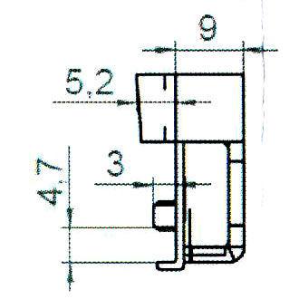 Sicherheitsschließblech SBS.K.9-44 PVC Profile Nutmittenlage 9 mm