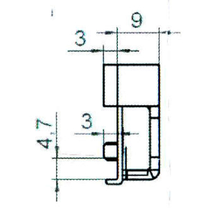 Sicherheitsschließblech SBS.K.9-52 PVC Profile Nutmittenlage 9 mm