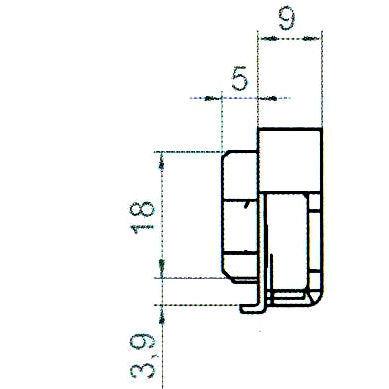 Sicherheitsschließblech SBS.K.9-92 PVC Profile Nutmittenlage 9 mm
