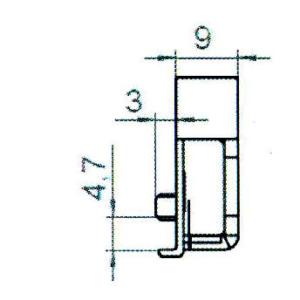 Sicherheitsschließblech SBS.K.9-97 PVC Profile Nutmittenlage 9 mm