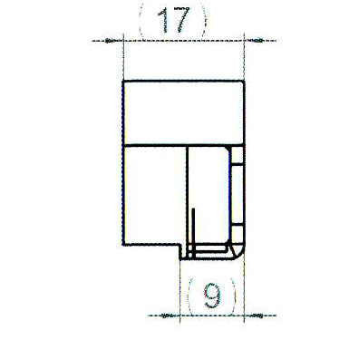 Sicherheitsschließblech SBS.K.9-F PVC Profile Nutmittenlage 9 mm