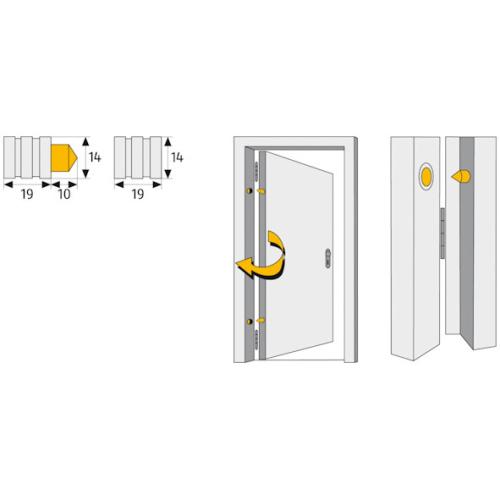 ABUS TAS 82 Bandseitensicherung Maße
