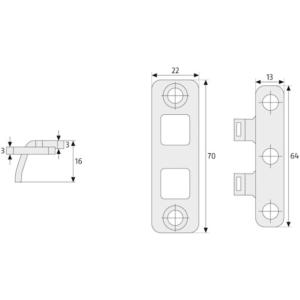 ABUS TAS 102 Scharnierseitensicherung Maße
