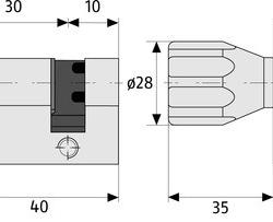 ABUS EC660 Zylinder Maße