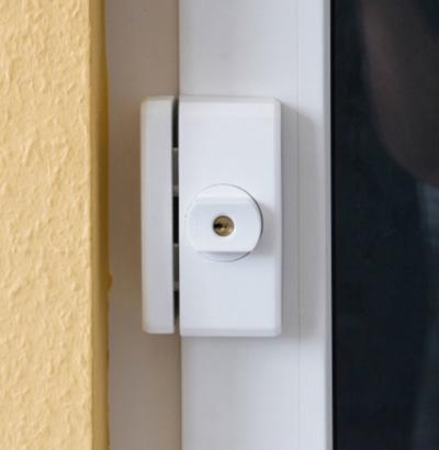 ABUS FTS96A Fenster-Zusatzschloss mit Alarm geschlossen