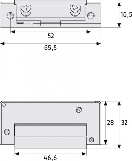 ABUS ET 85 Elektrischer Türöffner Maße