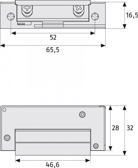 ABUS MT 90 Mechanischer Türöffner Maße