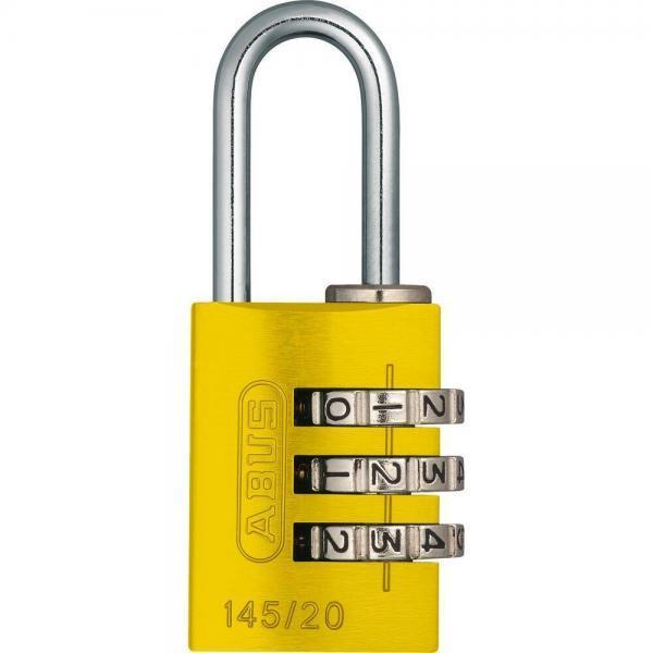 ABUS 145 Aluminium Zahlenschloss – 145/20 gelb
