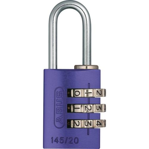 ABUS 145 Aluminium Zahlenschloss – 145/20 violet