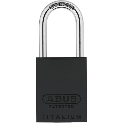 ABUS 83 Titalium Vorhangschloss - 83AL/40 schwarz
