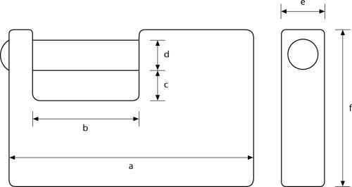 ABUS Monoblockschloss Maße Zeichnung